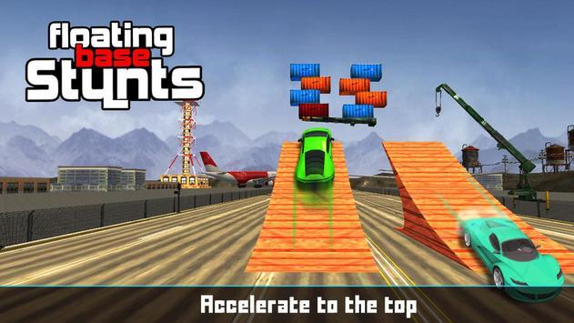 Floating Base Cars Stunts apk screenshot