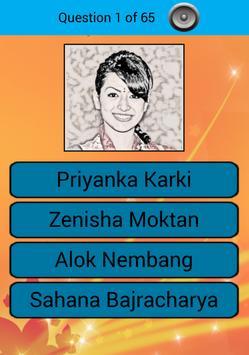 Nepal Celebrity Trivia Quiz apk screenshot
