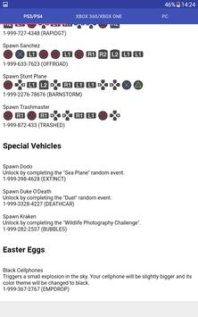 Cheats for GTA V (Game) apk screenshot