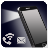 Flash Alert on Call &  SMS icon
