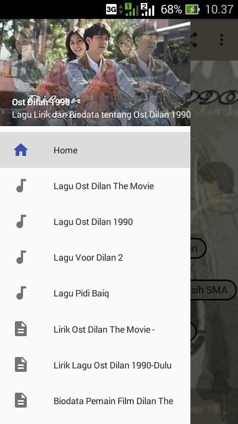 download lagu backsound film dilan 1990