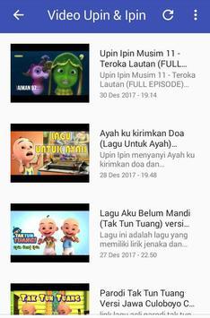 Lagu Upin & Ipin Video screenshot 2