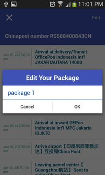 Tracking Tool For Chinapost apk screenshot