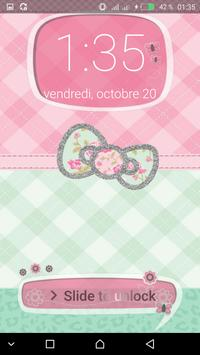 Pink Cute Minny Bowknot password Lock Screen screenshot 4