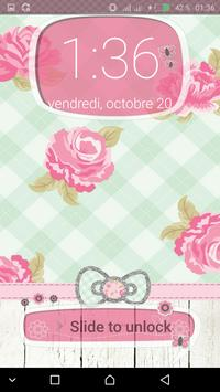 Pink Cute Minny Bowknot password Lock Screen screenshot 7