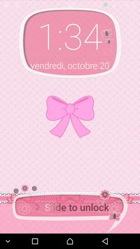 Pink Cute Minny Bowknot password Lock Screen poster