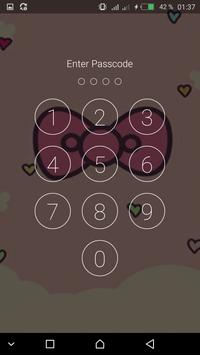 Pink Cute Minny Bowknot password Lock Screen screenshot 2
