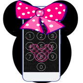 Pink Cute Minny  BowknotLOCK SCREEN icon