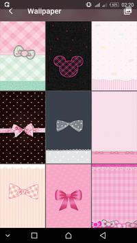 Pink Cute Minny  BowknotLOCK SCREEN poster