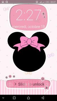 Pink Cute Minny  BowknotLOCK SCREEN screenshot 7