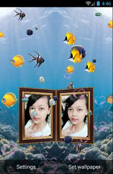 Couple Photo Aquarium Live Wallpaper screenshot 2