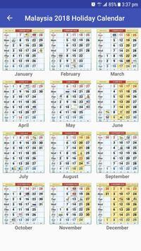 Calendar Year 2019 Malaysia