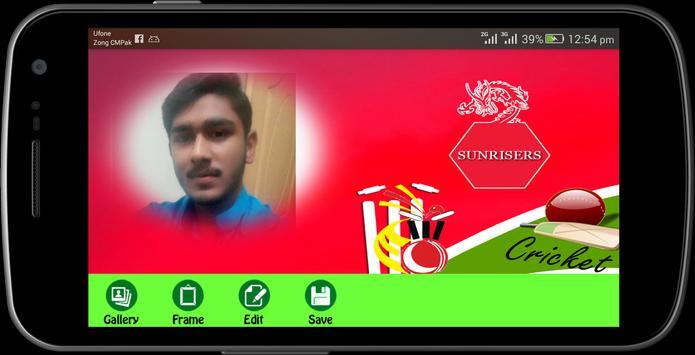 IPL 2017 photo frames maker screenshot 2