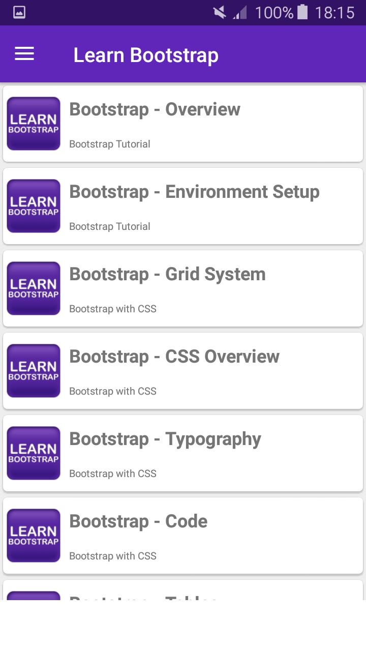 Learn Bootstrap for Android - APK Download