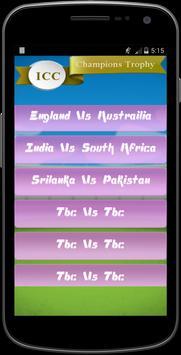 Champion Trophy Schedule 2017 apk screenshot