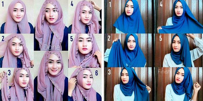 Hijab Styles Step by Step 2018 poster