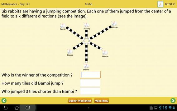 Math & English Worksheets DEMO apk screenshot