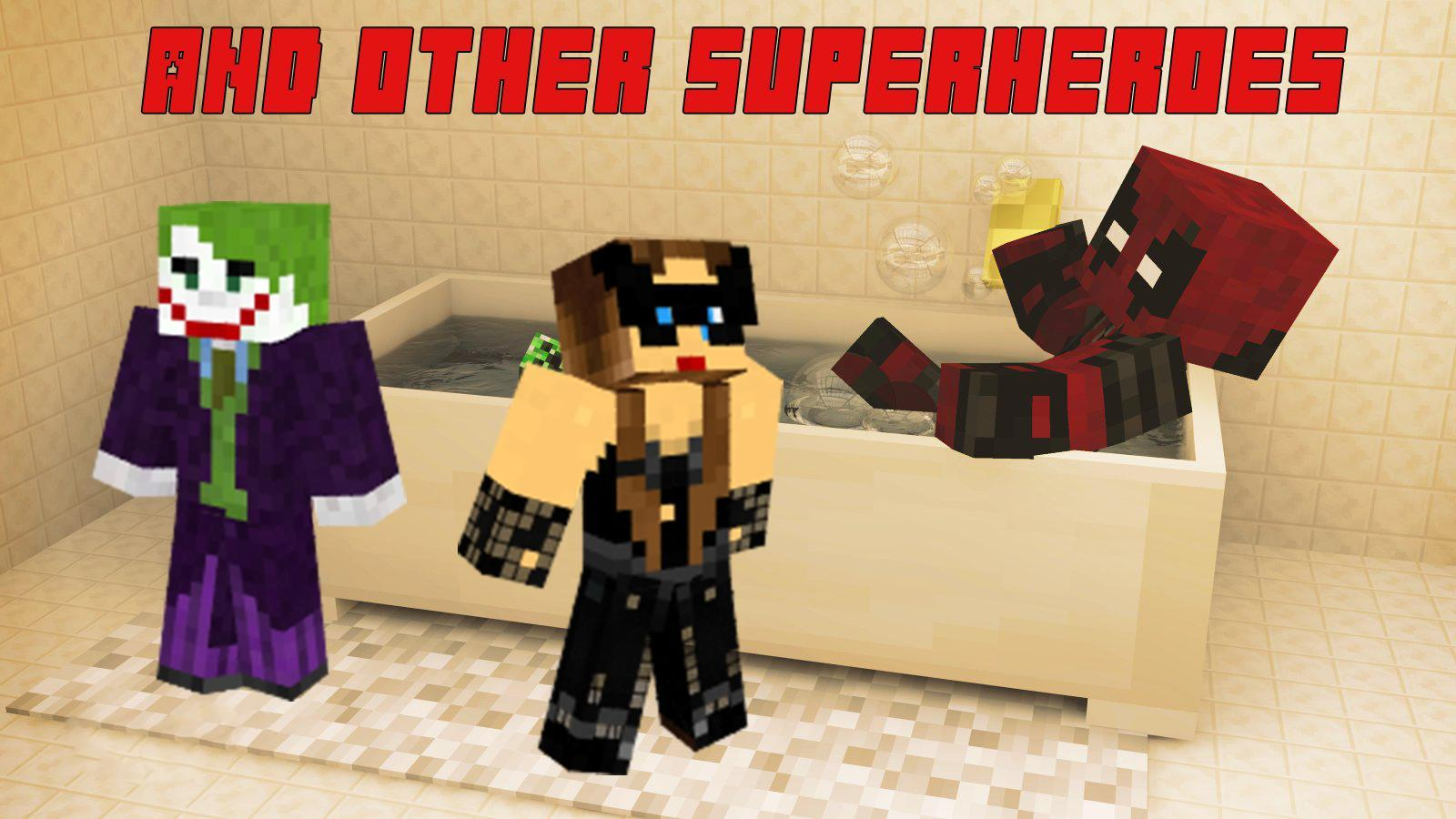 Skin Minecraft Batman Superman For Android Apk Download