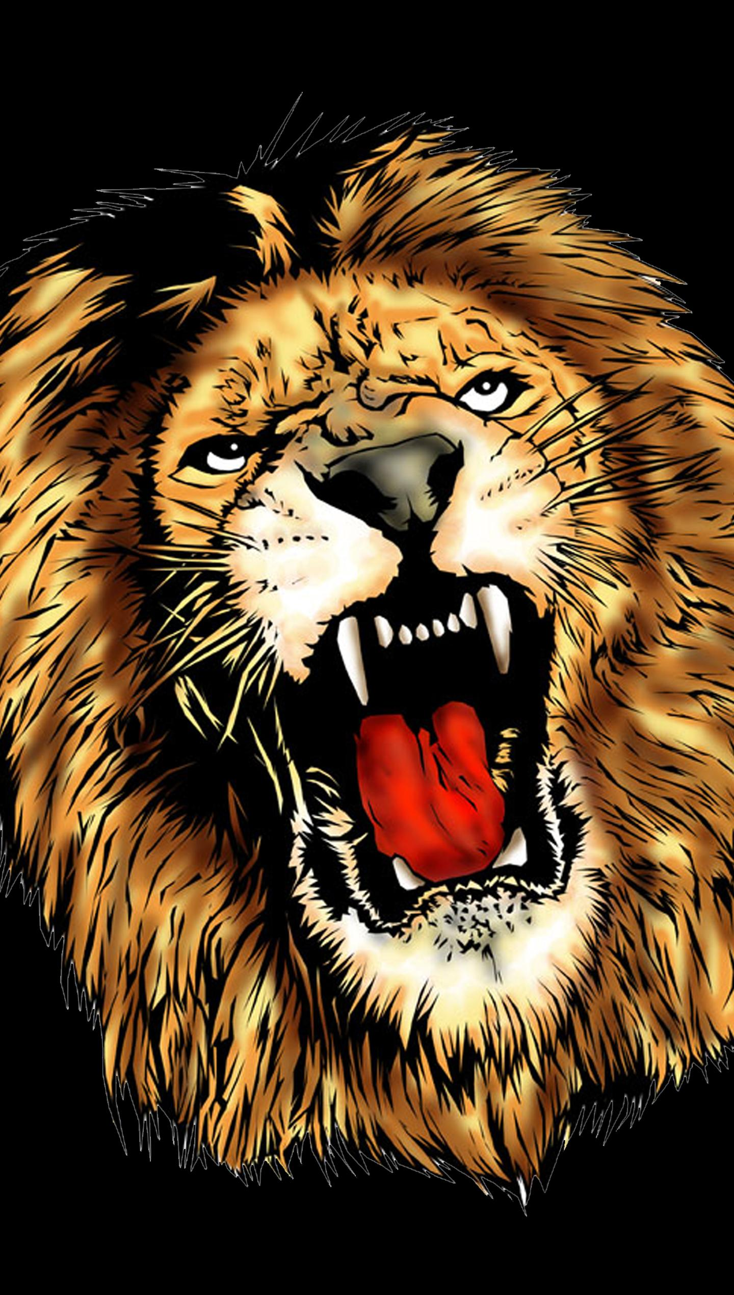 Scary Lion Color By Number Draw Book Pixel Art Pour Android
