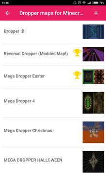 Dropper maps for Minecraft PE apk screenshot