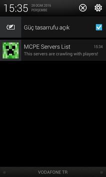 MCPE Servers List apk screenshot