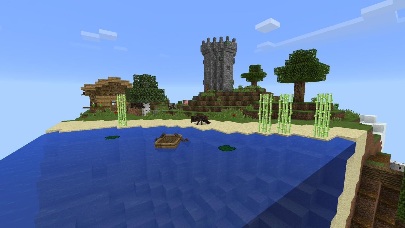 Майнкрафт карта остров cube survival