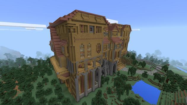 Herobrine Mansion MCPE map apk screenshot