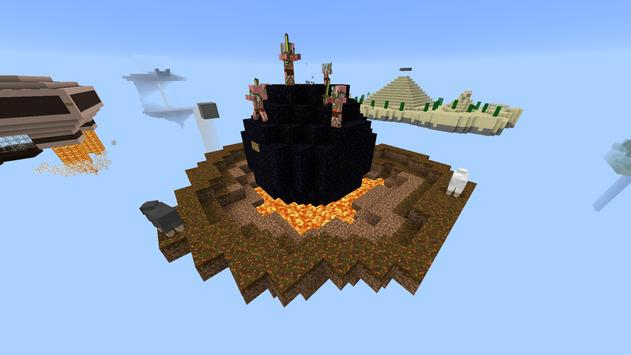 Sky Islands map for Minecraft poster
