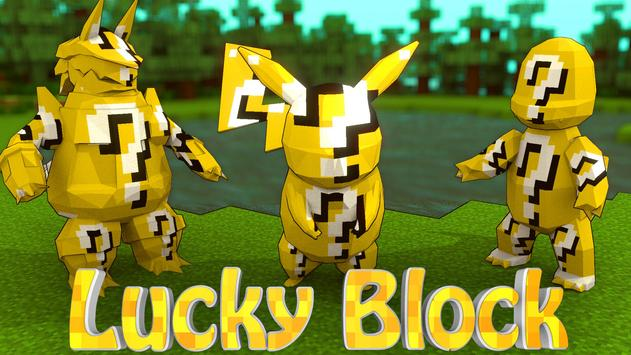MegaPack Lucky block for Minecraft PE poster