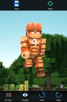 Skin Editor For Minecraft 3D poster