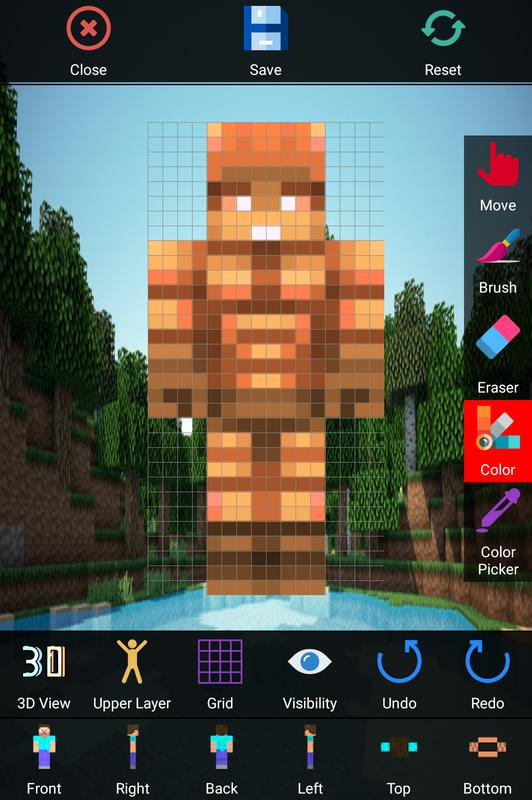 Skin editor for minecraft 3d apk baixar gr tis for 3d editor online