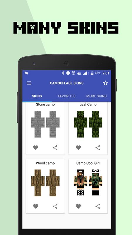 minecraft leaves camo skin download