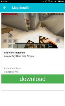 Skywars Maps For Minecraft PE apk screenshot