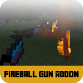 Mod Fireball Gun for MCPE icon