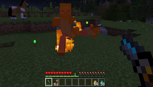 Mod Fireball Gun for MCPE poster