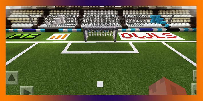 Soccer Stadium. Map for MCPE poster