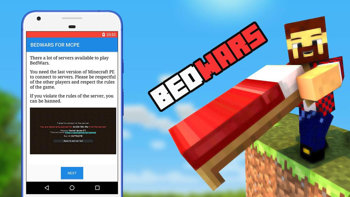 how to get bedwars on minecraft pe