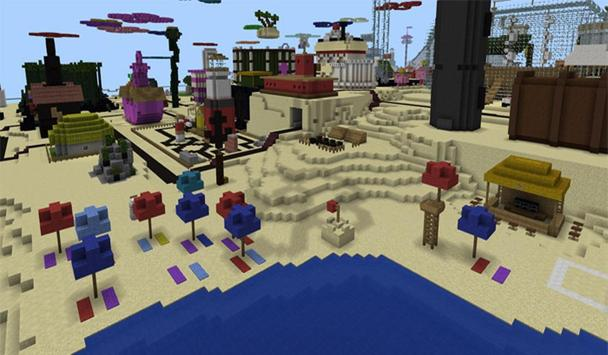 Bikini Bash City Map MCPE apk screenshot