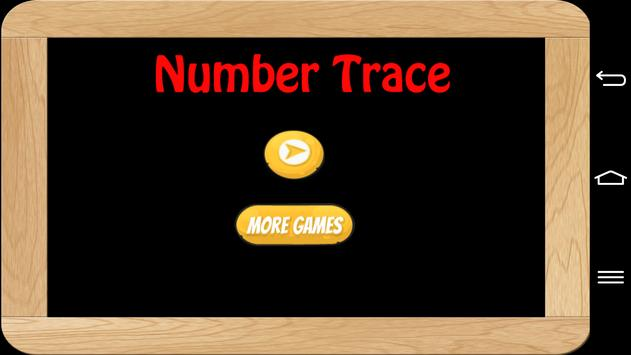 Number Trace poster