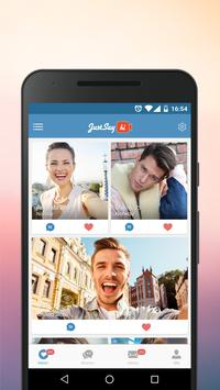 JustSayHi- Dating App. Chat & Meet Singles Nearby poster ...