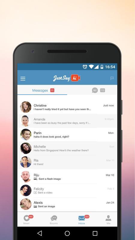 justsayhi app