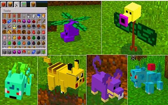 Pixelmon with Pokeball and Pokedex Mod for MCPE for Android