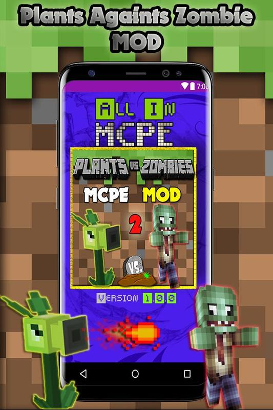 New Plant Vs Mod Skin Zombie For Minecraft PE Für Android APK - Zombey skin fur minecraft pe
