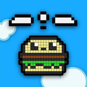 Hamburger fly icon