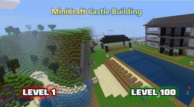 MiniCraft Castle Building Cartaz
