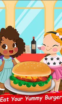 Kids Street Food Burger Cooking Game apk screenshot