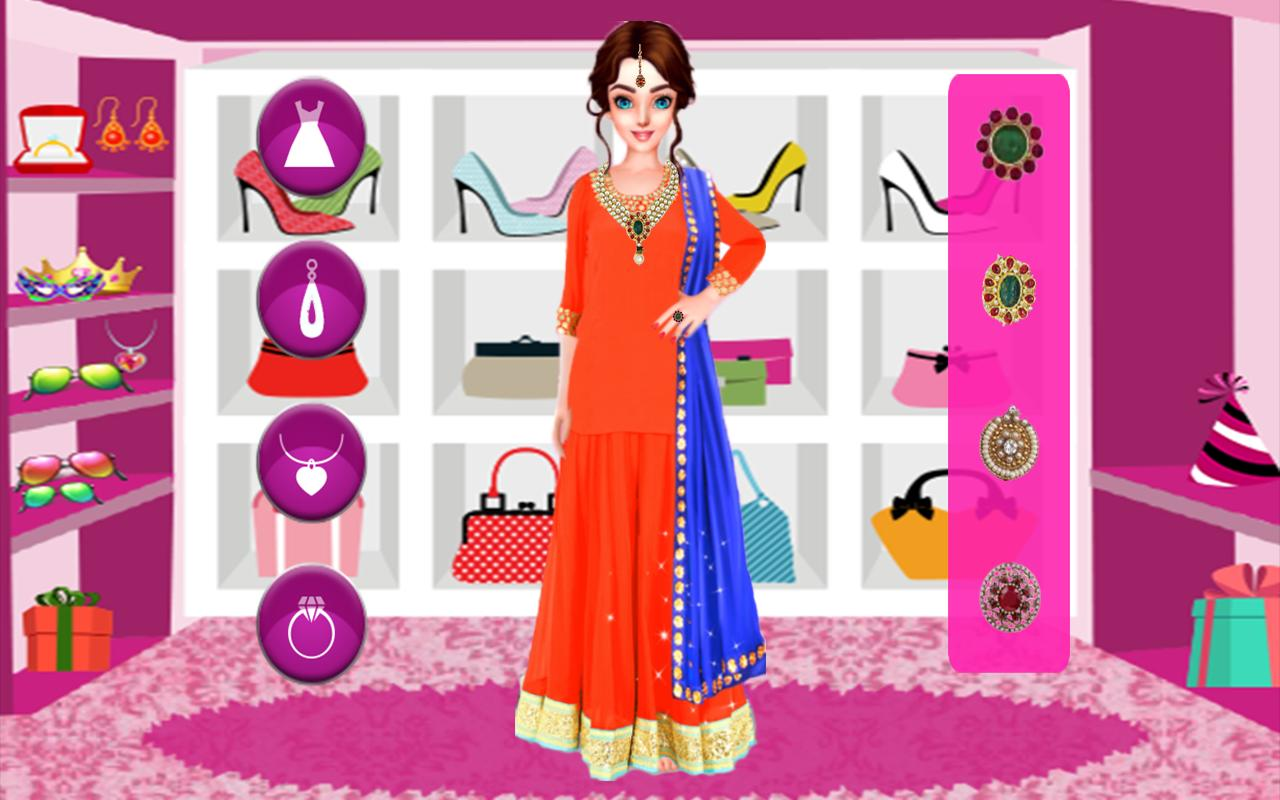 Indian Wedding Makeover – Bridal Fashion Salon cho Android - Tải về APK