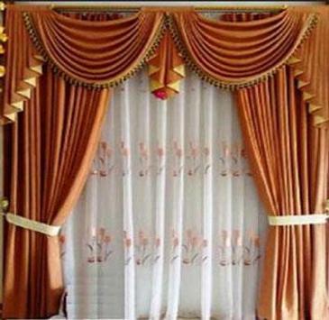 minimalist curtain design poster