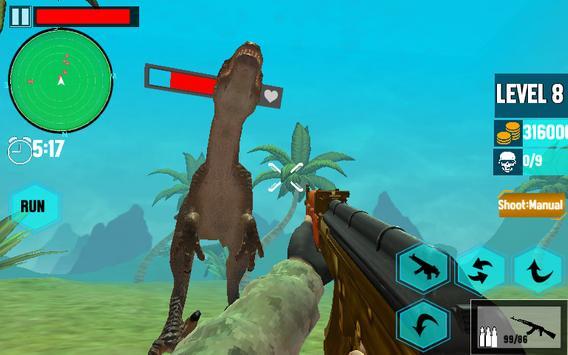 Ultimate Dino : Jurassic World FPS Shooting War 3D screenshot 3
