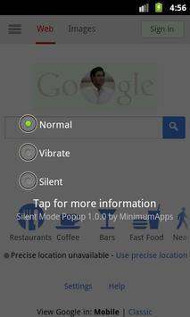 Silent Mode Popup screenshot 1